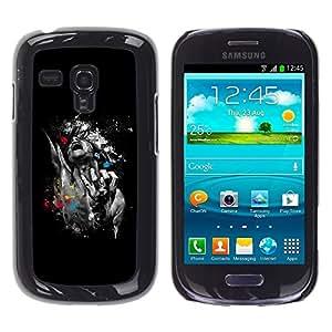 TECHCASE**Cubierta de la caja de protección la piel dura para el ** Samsung Galaxy S3 MINI NOT REGULAR! I8190 I8190N ** Abstract Art