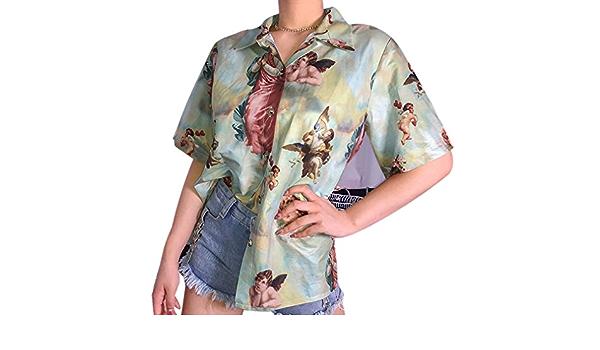 Mcaishen Camisa Retro De Verano para Mujer Camiseta Nueva con ...