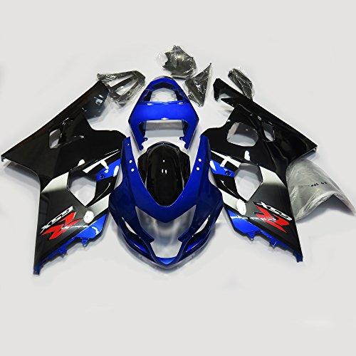 Oem Suzuki Fairings - ZXMOTO OEM Style Blue & Black Painted Fairing Kit for SUZUKI GSX-R 600 / 750 K4 (2004 - 2005) Aftermarket Bodywork Fairings