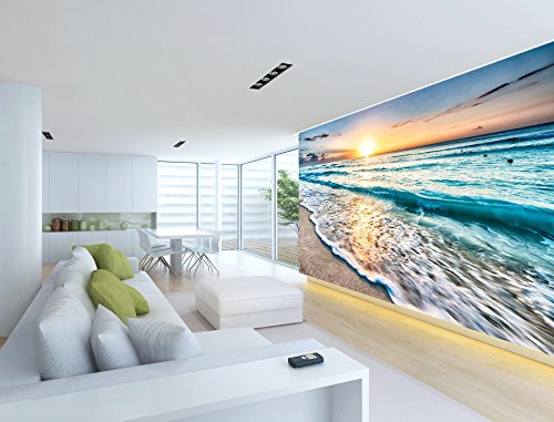 3D Sunrise Sea Beach 072 Wall Paper Wall Print Decal Wall Deco Indoor wall Murals Removable Wall Mural | Self-adhesive Large Wallpaper , AJ WALLPAPER Carly ()