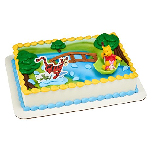 (Decopac Winnie the Pooh, Piglet, Tigger - Hunny Raindrops Cake Topper)