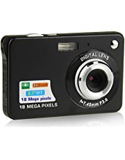 ZOOMK Camera Digital Cameras - 2.7 inch 18 MP Cameras for Family,Friends,School,Students,Holiday (Black)