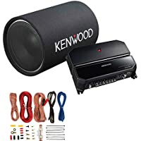 Kenwood P-W131TB 12 1200W Bass Tube Subwoofer + 2-Channel Amplifier + Amp Kit