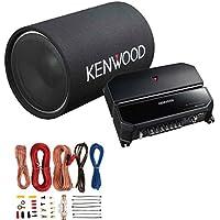 Kenwood P-W131TB 12 1200W Bass Tube Subwoofer + 2-Channel Amplifier + Amp Kit