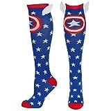 Captain America Shield and Stars Knee High Socks