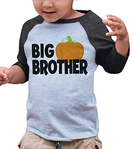 7 ate 9 Apparel Kid's Big Brother Halloween Shirt 3T Grey