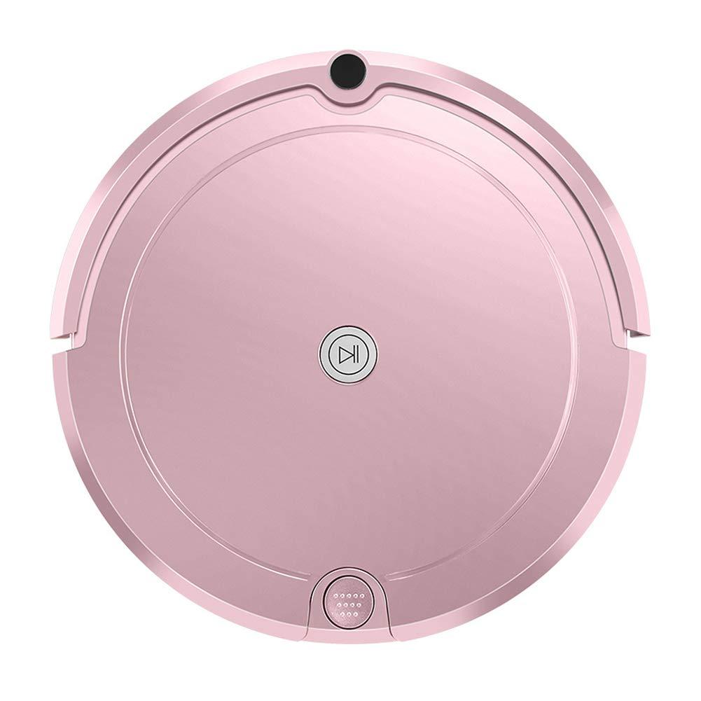 リモート コントロール ロボット 真空 クリーナー 1 ボタン に 開始 クリーニング 同期 ロボット 定数 圧力 水 タンク、 特殊 にとって ペット ヘア クリーニング,Pink  Pink B07Q755BYZ