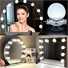 Hollywood Style LED Vanity Mirror Lights Kit with 10 Dimmable Light Bulbs, IP65 Waterproof Makeup Lighting Fixture Bulbs for Vanity Table Set in Dressing Room (Mirror Not Include)