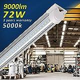 Barrina LED Shop Light Fixture 8ft, T8, 72W 9000lm