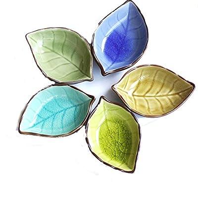 OliaDesign Leaf Plates (Set of 5), Multicolor