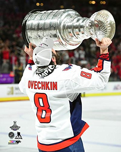 "Alex Ovechkin Washington Capitals Stanley Cup Trophy Photo (Size: 16"" x 20"")"