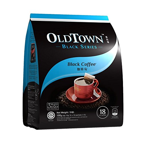 - Malaysia Old Town/Black Series/Black Coffee/Bold Intense Flavor With Well-Balanced Hint Of Caramel/Perfect For Dark Roast Coffee Lovers / 18s x 10g
