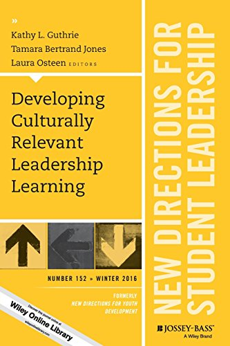 Developing Culturally Relevant Leadership Learning: New Directions for Student Leadership, Number 152 (J-B SL Single Issue Student Leadership)
