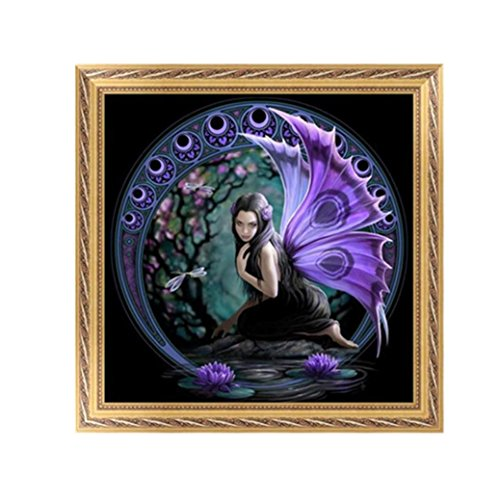 nd Painting By Number Kits, Beauty Embroidery Cross Stitch Craft Home Decor Gift (30X30CM/12X12inch) (Mini Purple Diamonds)