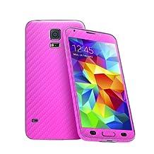 Cruzerlite Carbon Fiber Skin for The Samsung Galaxy S5, Retail Packaging, Pink (Full Kit