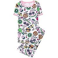 Gymboree Girls' 2-Piece Short Sleeve Tight Fit Pajama Set