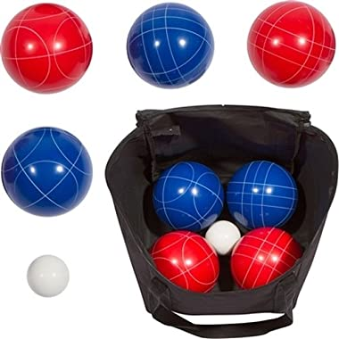 Trademark Innovations 9 Bocce Ball Set with Carry Case