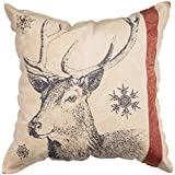 Primitives by Kathy Holiday, Throw Pillow, Snowflake Deer