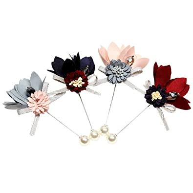 FENICAL 4 unids Flor Broche Pins Hecho A Mano Boutonniere ...