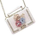 Pocciol Shoulder Bag Women Clearance Fashion Women Mini Shoulder Bags Lnclined Coin Bag (White)