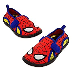 Disney Store Spider-Man Traction Hero Swim Shoes for Boys, Size 11, Red