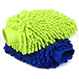 Car Wash Mitts- 2 Pack Extra Large Size - Winter Waterproof -Premium Chenille Microfiber Car Wash mitt - Lint Free - Scratch Free (Wash Mitts 2 Pack) (Wash Mitts 2 Pack)