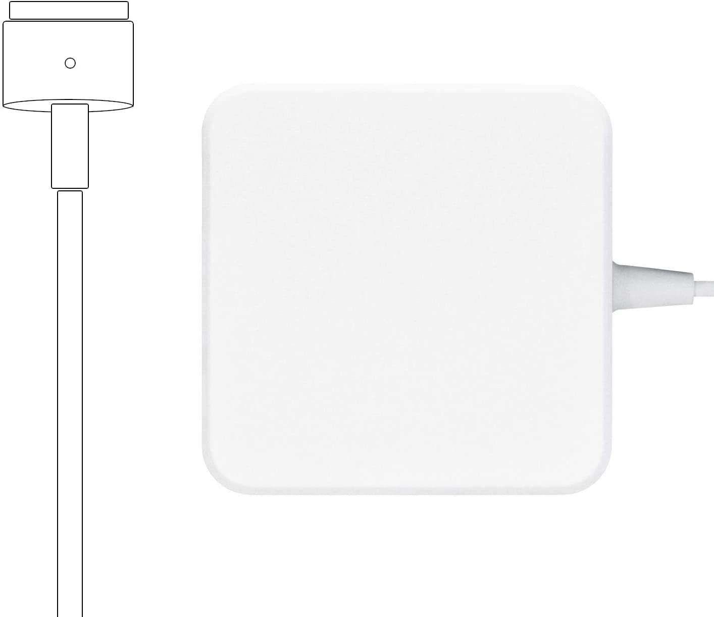 Replacement MacBook Pro Charger, 85W Power Adapter Magnetic T-Tip for Magsafe 2 Mac Book Pro with Retina Display After Mid 2012 by Uflatek