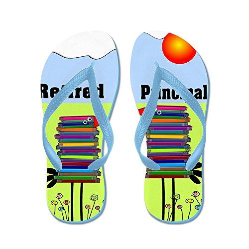CafePress Retired Principal - Flip Flops, Funny Thong Sandals, Beach Sandals Caribbean Blue