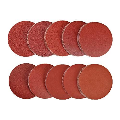 SPTA 100pcs 3 inch Sanding Discs Pad Kit for