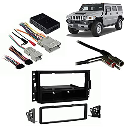 image unavailable  image not available for  color: fits hummer h3 2006-2010  single din aftermarket harness radio install