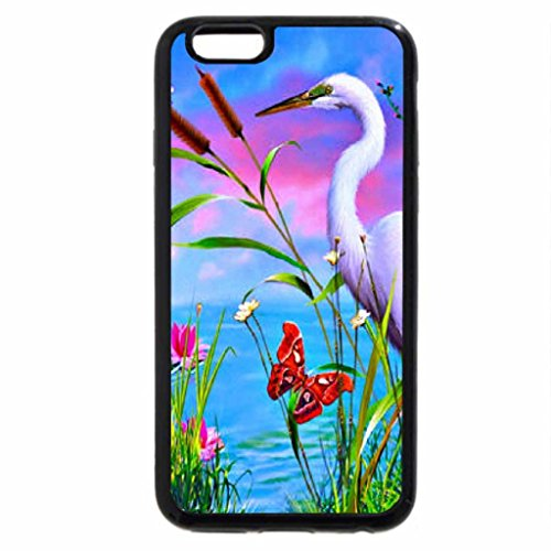 iPhone 6S Plus Case, iPhone 6 Plus Case (Black & White) - Splendid rose