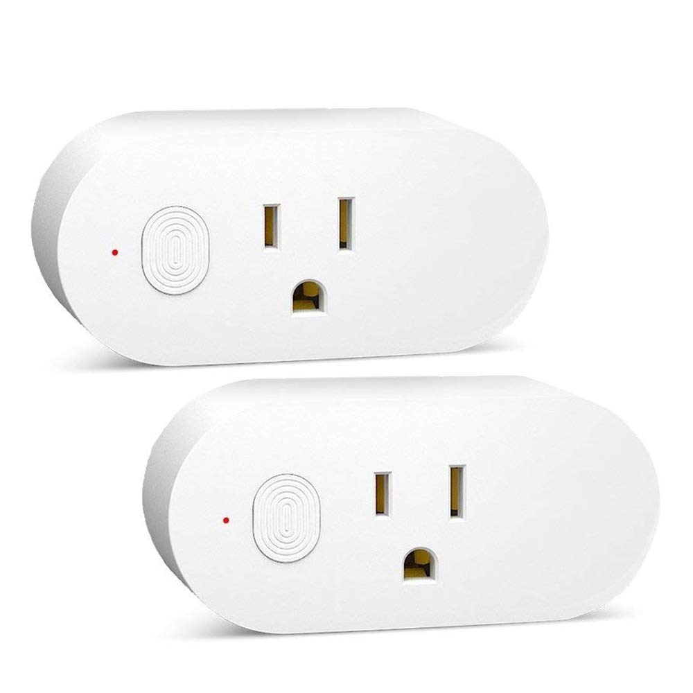 Weton Mini Wifi Smart Plug Outlet 2 Pack,16A Maximum Output, Works with Amazon Alexa Google Assistant, Wifi Socket Time Light Switch, No Hub Required, Control Your Devices from Anywhere by Weton