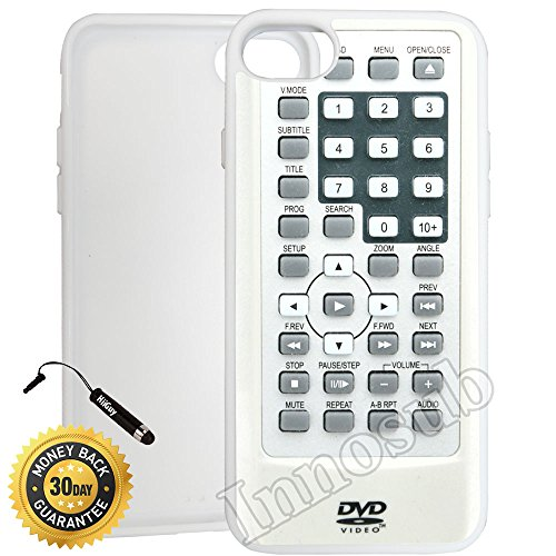 Innosub Custom iPhone 7 Case (Remote Control DVD) Edge-to-Edge Rubber White Cover with Shock and Scratch Protection | Lightweight, Ultra-Slim | Includes Stylus Pen (Advanced Rubber Guard Dvd compare prices)