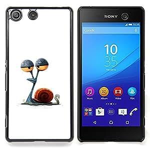 Eason Shop / Premium SLIM PC / Aliminium Casa Carcasa Funda Case Bandera Cover - Dibujo minimalista Stoned - For Sony Xperia M5
