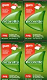 Nicorette Nicotine Gum: FRESH FRUIT 4 MG (4 packs of 105, 420 Pieces) (Stop Smoking Aid)