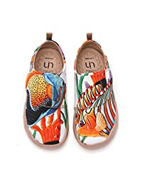 UIN Toddler Baby Little Kid Shoes Painted Art Funny Walking Casual Fashion Sneakers Loafers Shell Yean