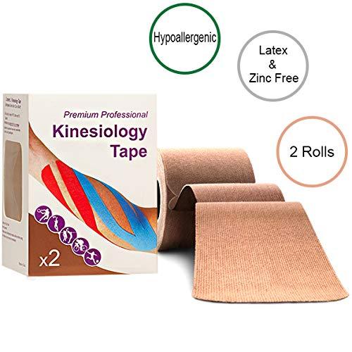 Hypoallergenic Beige Kinesiology Tape Twin Pack by Kinesi-Allergy
