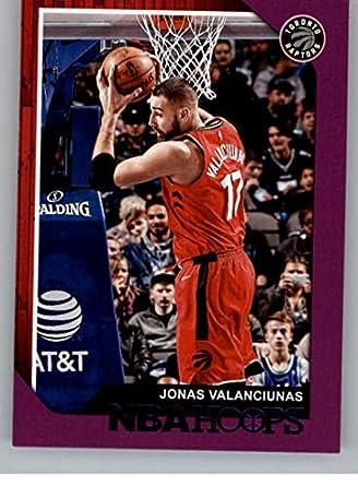 6cef1b2fec7 2018-19 NBA Hoops Purple #26 Jonas Valanciunas Toronto Raptors Official  Trading Card made