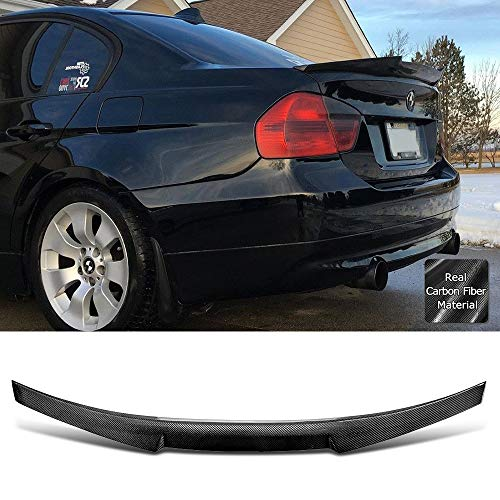 - Rolling Gears Carbon Fiber Rear Trunk Spoiler Fits BMW 3er E90 Sedan and M3 (M4V Style)