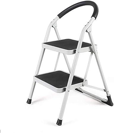 WYNZYTD Escalera De Metal De 2 Pasos para Uso Doméstico, Taburete Pequeño De Doble Uso para Interiores, Engrosamiento, Escalera De Dos Pasos, Escalera De Espiga Escalera Plegable Escalera Ascendente: Amazon.es: Hogar