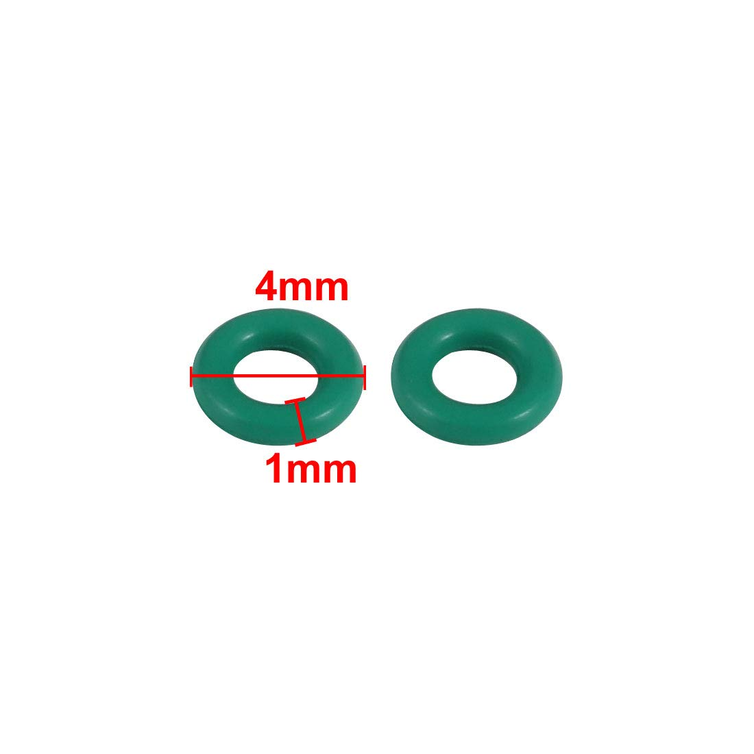 uxcell 100pcs 4mm x 1mm Size Mechanical Rubber O Ring Oil Seal Gaskets Green