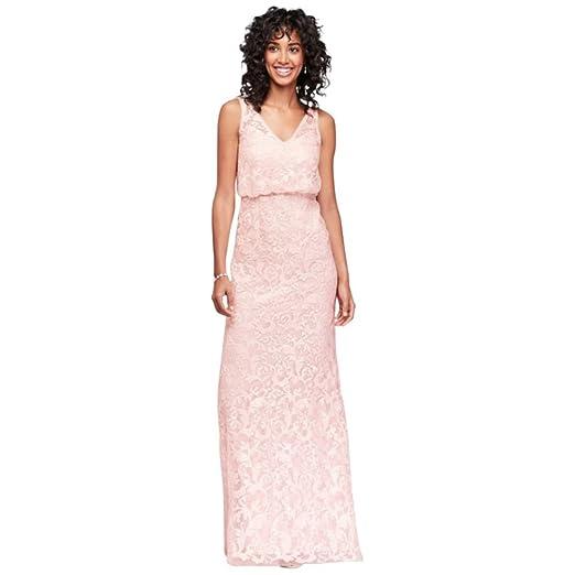 aa7e9783fa6 David s Bridal V-Neck Sequin Blouson Bridesmaid Dress Style AP2E203050