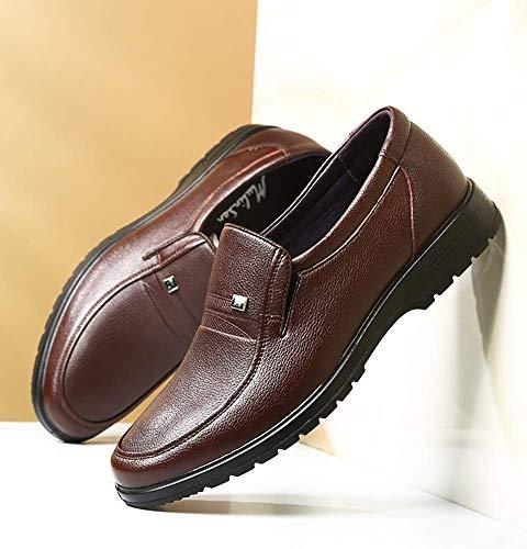 Cordones Vestir Hombres para UK Ocasionales de tamaño Marrón de 5 Zapatos HhGold Mocasines Marrón Color para con 5 Hombres 7 Negocios cómodos US Cuero de 6 7xCIq