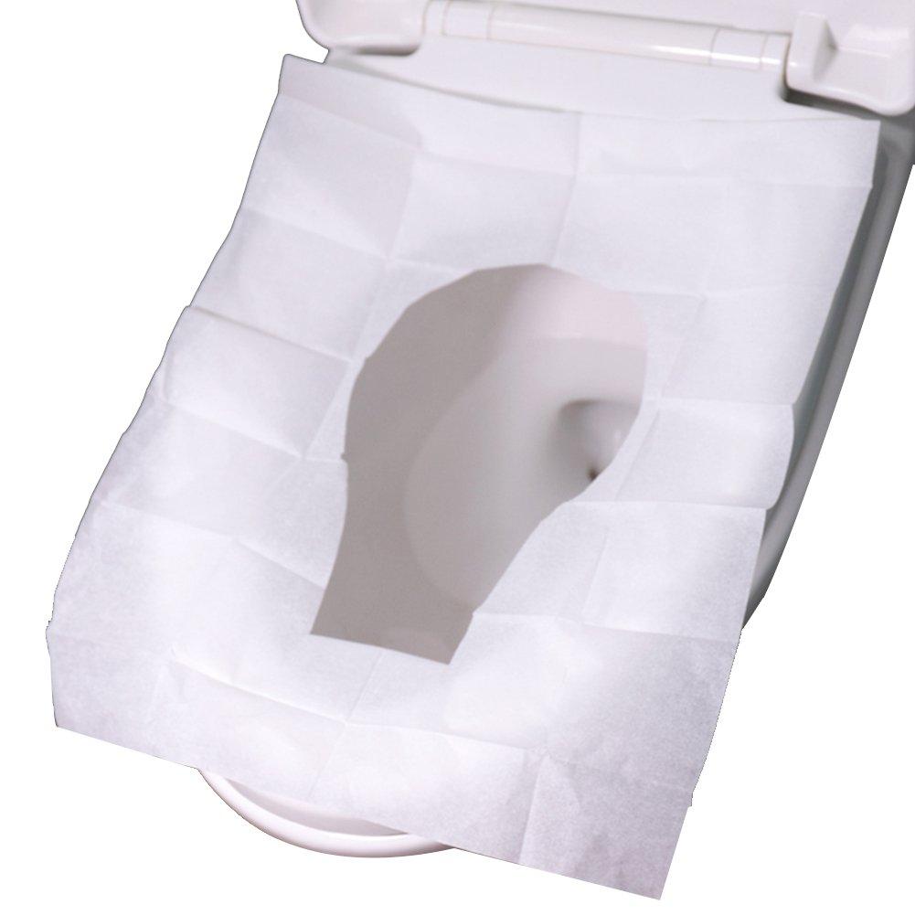 Rocita Papier jetables Housses de Siège WC Premium Trousse de Toilette Housses de Siège Bébé Enfants d'apprentissage de la propreté Taille Sièges jetables et biodégradables