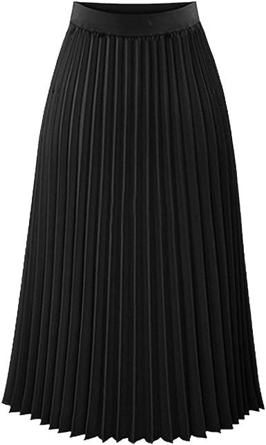 TEERFU - Falda plisada tipo A para mujer: Amazon.es: Ropa y accesorios