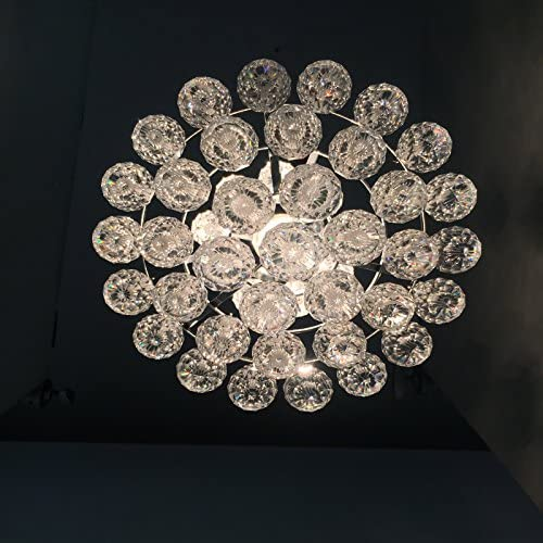 Flush Mount Crystal Chandelier Lighting Ceiling Light Fixture with 42 Pendant Balls 8 W, 13 H for Bedroom Hallway Bar Kitchen Bathroom Vanity Room