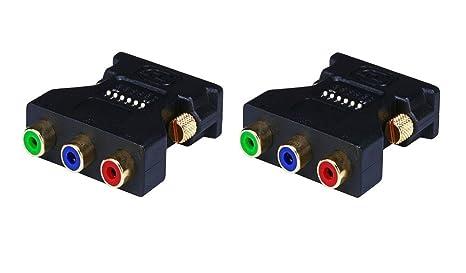 Amazon.com: Monoprice 2398 DVI-I macho a 3 RCA Componente ...