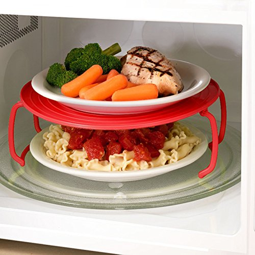 Pakdeevong shop 3-color plastic microwave stand, multifunctional insert :Color:Send (Betty Boop Wedding)
