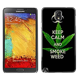 - Marijuana Kush Weed - - Cubierta de piel de aluminio de pl¨¢stico duro de nuevo caso de protecci¨®n FOR Samsung Note 3 N9000 Queen Pattern