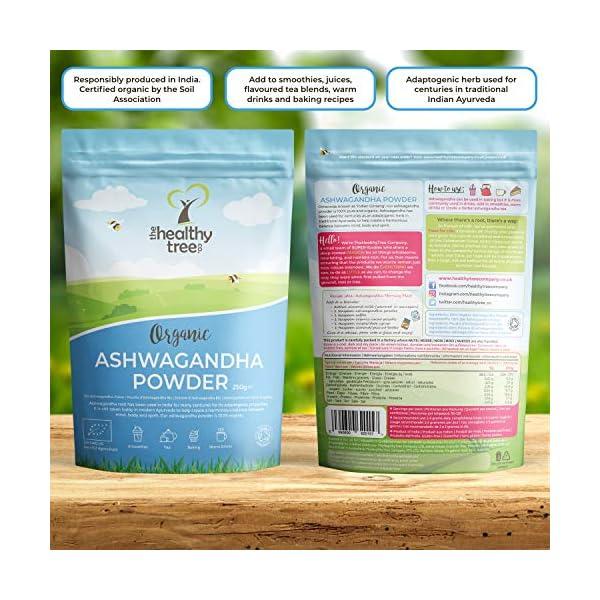 Polvere di Ashwagandha Cruda Bio di TheHealthyTree Company - Vegan, Erba 100% Naturale Ayurvedica Adattogena per la… 4 spesavip